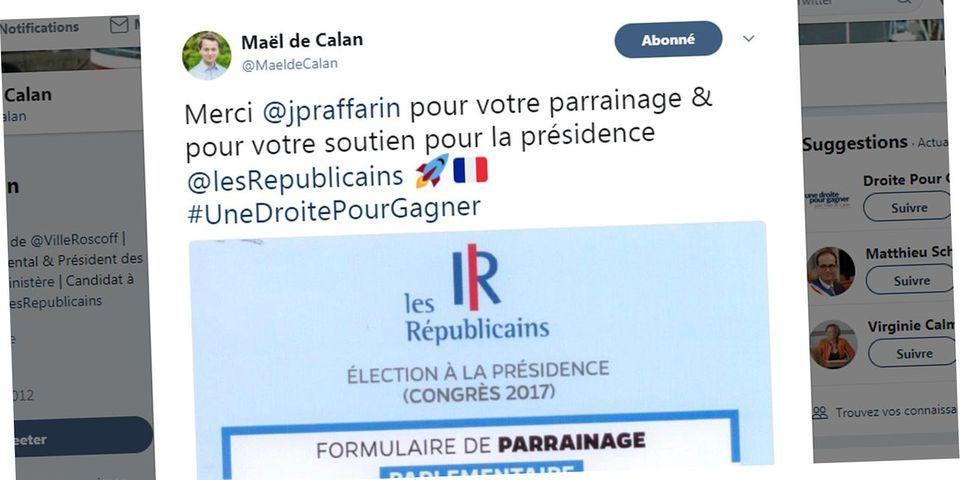 Présidence LR : le juppéiste Maël de Calan rend public le parrainage de Jean-Pierre Raffarin en sa faveur