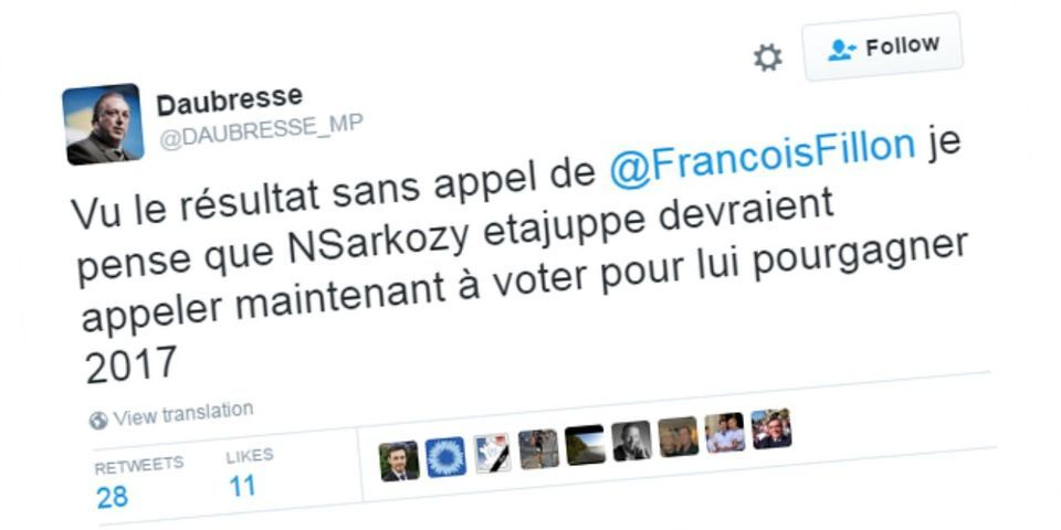 """Primaire de la droite : le sarkozyste Daubresse """"pense"""" que Juppé et Sarkozy """"devraient appeler maintenant à voter"""" Fillon"""