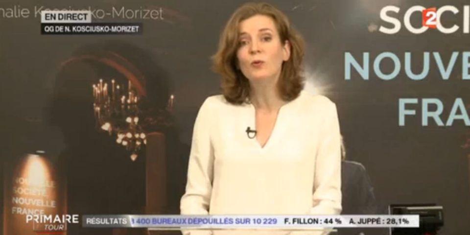 Primaire de la droite : Nathalie Kosciusko-Morizet ravie d'être placée en quatrième position