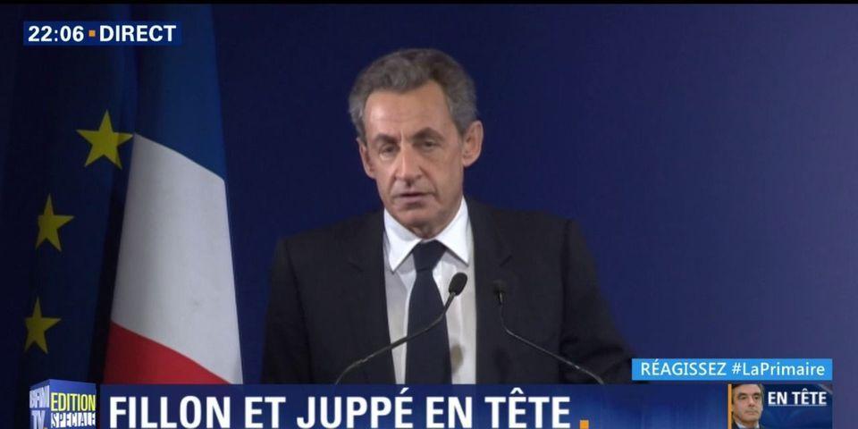 Primaire de la droite : Nicolas Sarkozy reconnaît sa défaite (et appelle à voter Fillon)