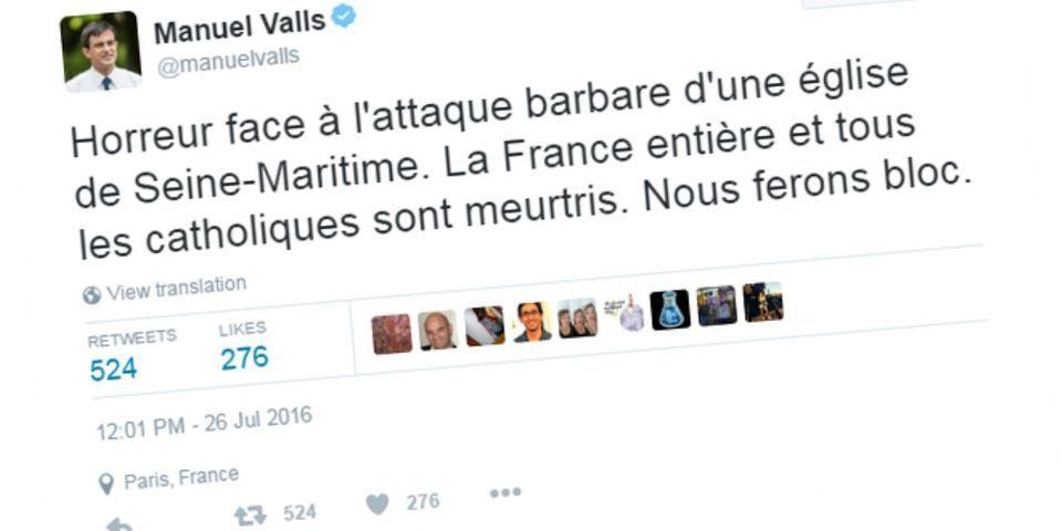"""Saint-Etienne-du-Rouvray : les politiques expriment immédiatement leur """"horreur"""""""