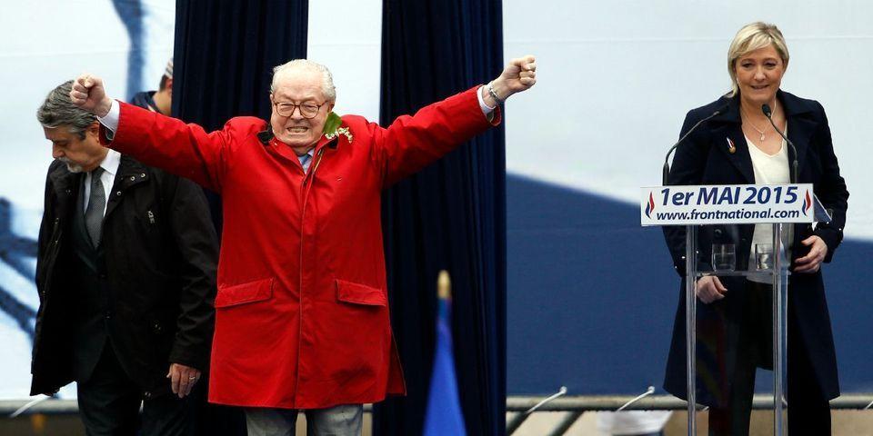 Privé de discours le 1er mai, Jean-Marie Le Pen monte 20 secondes à la tribune de sa fille
