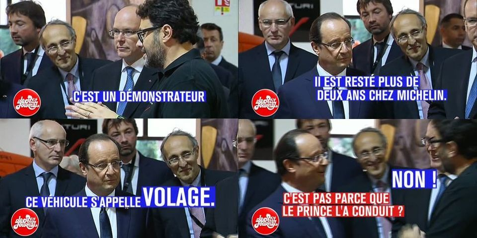 Quand François Hollande demande si une voiture s'appelle Volage parce que le prince Albert II l'a conduite