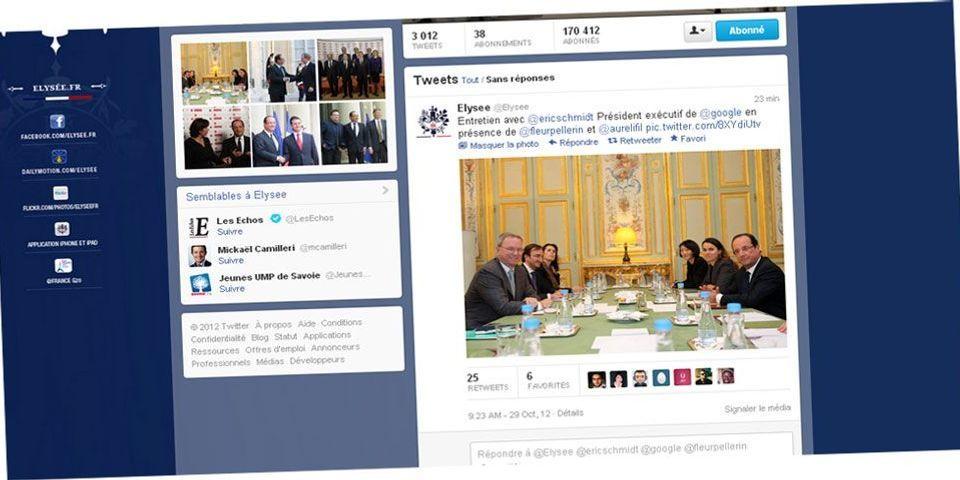 Quand Hollande rencontre Eric Schmidt, les questions sont interdites