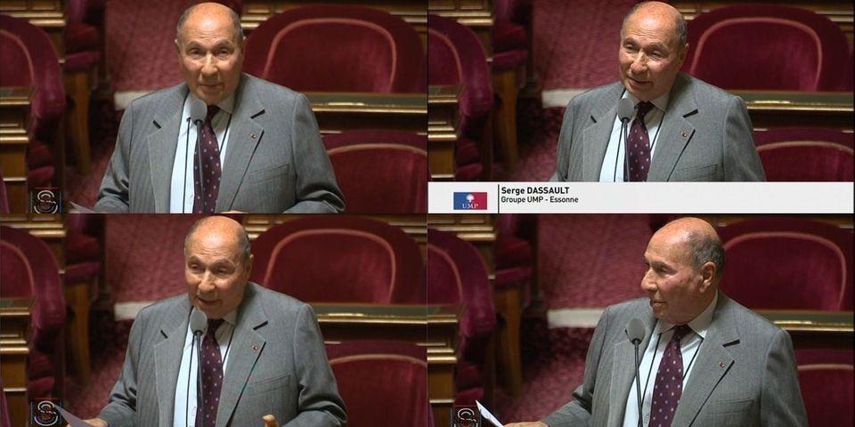 Quand Serge Dassault prend le micro en séance, au Sénat, pour raconter sa garde à vue et clamer son innocence