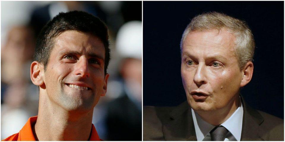 Quand le tennisman Bruno Le Maire se prédit un destin politique à la Djokovic