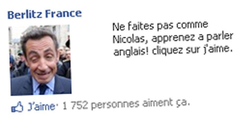Quand Sarkozy sert d'argument pub sur Facebook