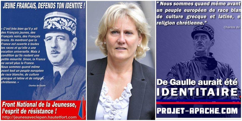 """""""Race blanche"""" : avant Nadine Morano, le Front national de la jeunesse ou le Bloc identitaire ont aussi exploité De Gaulle"""