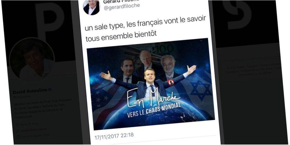 """Le PS """"engage une procédure d'exclusion"""" contre Gérard Filoche après un tweet antisémite et montrant Emmanuel Macron avec un brassard nazi"""