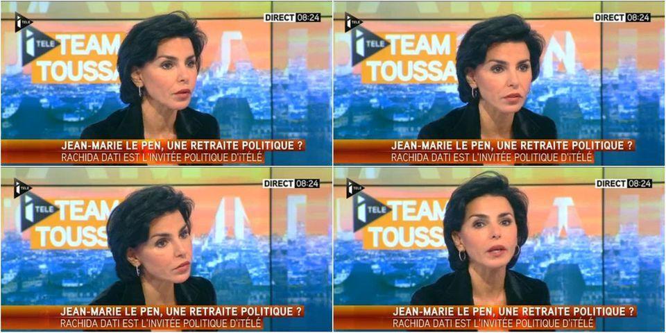 """Rachida Dati se plaint de venir """"aux aurores"""" sur I-télé pour parler du FN"""