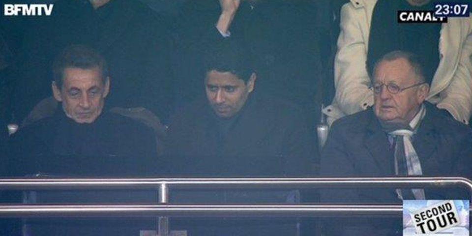 Résultats régionales : sitôt son allocution terminée, Nicolas Sarkozy s'est rendu au Parc des Princes pour voir PSG-Lyon