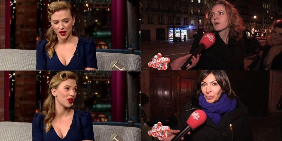 """Scarlett Johansson critique les parisiens : Anne Hidalgo l'invite à une balade, NKM n'est """"pas très d'accord"""""""