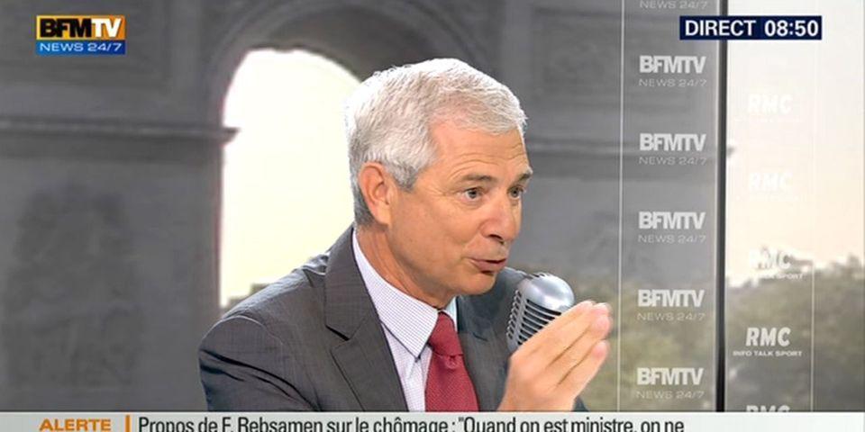 """Selon Claude Bartolone, François Hollande a été """"un peu agacé"""" par la sortie de François Rebsamen sur le contrôle des chômeurs"""