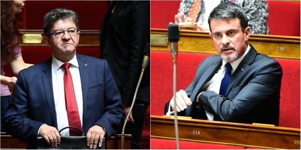 """Selon Manuel Valls, Jean-Luc Mélenchon l'a traité de """"nazi"""""""