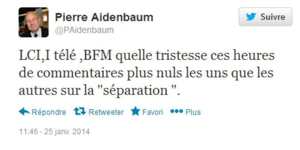 Séparation entre Valérie Trierweiler et François Hollande : feu sur les chaînes d'information continue