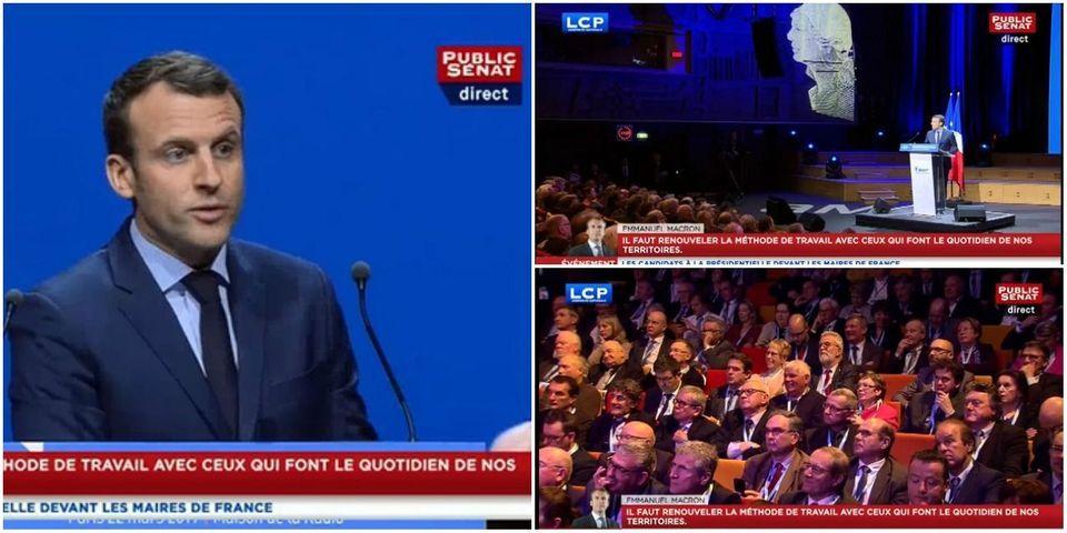 """Sifflé à l'Association des maires de France, Emmanuel Macron estime """"qu'il ne faut pas exclure qu'il y ait des consignes"""""""