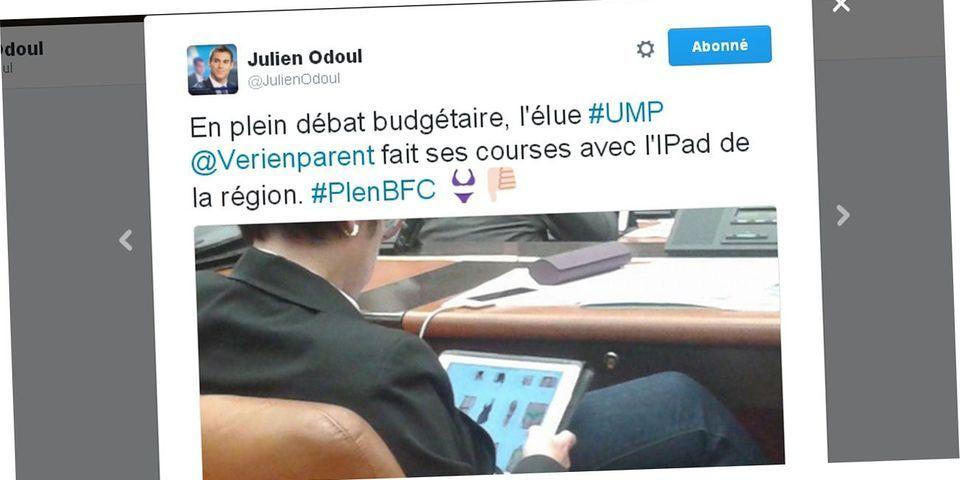 """""""Slip gate"""" : en Bourgogne-Franche-Comté, le FN accuse une élue UDI """"d'acheter des slips"""" en séance """"avec l'iPad de la région"""""""
