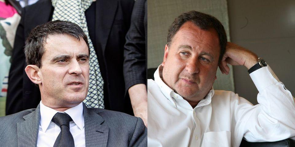 Stéphane Fouks aux côtés de Manuel Valls lors des dernières heures précédant sa nomination à Matignon