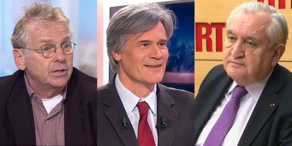 Stéphane Le Foll, Jean-Pierre Raffarin et Daniel Cohn-Bendit dans le multiplex politique du 26 janvier