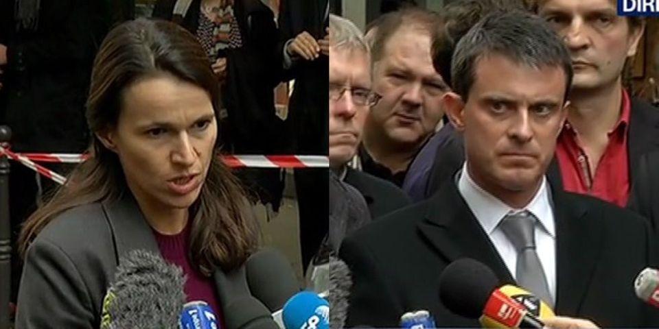 """Tirs à Libération : Aurélie Filippetti parle d'une frappe """"monstrueuse"""", Manuel Valls évoque une """"scène de guerre"""""""