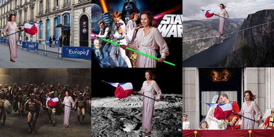 Toi aussi détourne la photo de Ségolène Royal en Liberté Guidant le peuple #RoyalDelacroix