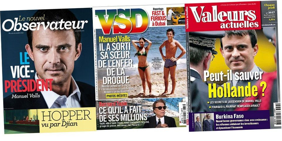 Top 5 des unes improbables avec Manuel Valls