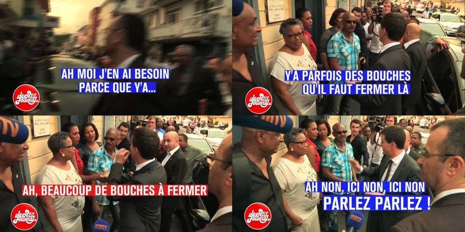 """Très critiqué à Paris sur Léonarda, Valls aux Antilles fait de l'humour sur les """"bouches qu'il faut fermer"""""""