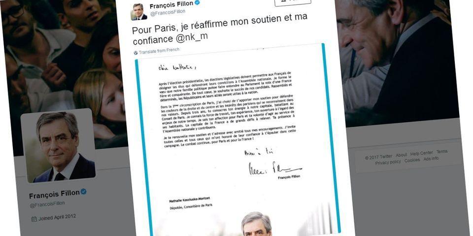 """Très silencieux depuis sa défaite, Fillon réitère """"son soutien"""" à NKM face à des candidats LR dissident"""