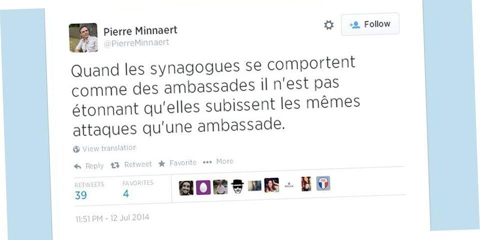 """Un délégué d'Europe Ecologie-Les Verts juge """"pas étonnantes"""" les attaques de synagogues en France"""