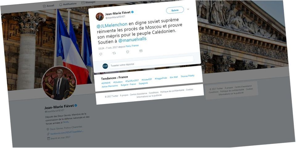 """Un député LREM qualifie Jean-Luc Mélenchon de """"digne soviet suprême"""" qui """"réinvente les procès de Moscou"""""""