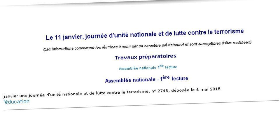 """Un député UMP veut faire du 11 janvier une """"journée d'unité nationale et de lutte contre le terrorisme"""""""