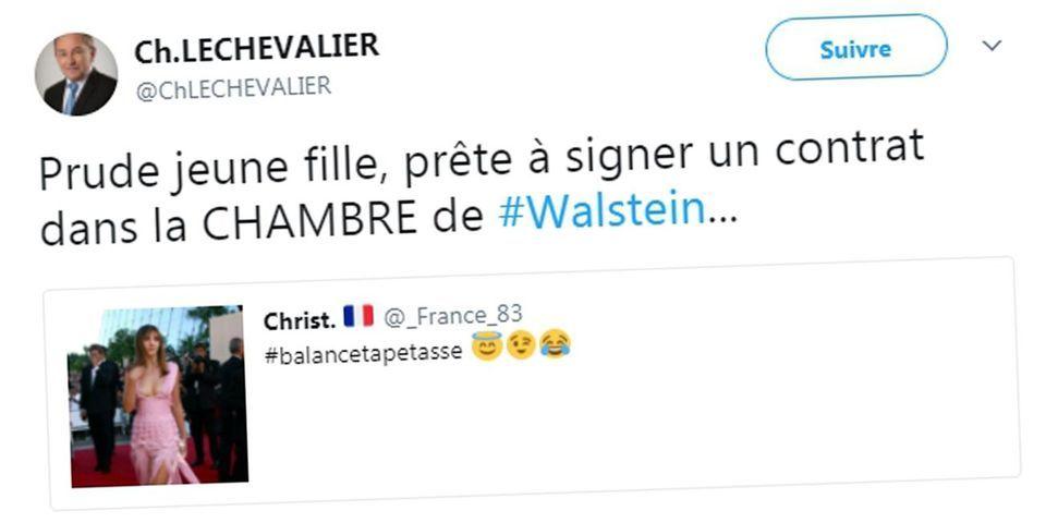 """Un élu FN ironise sur une photo de l'actrice Clotilde Courau accompagnée du hashtag """"Balance Ta Pétasse"""""""