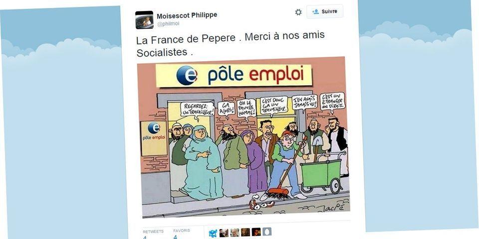 Un élu Les Républicains de Levallois-Perret relaie un dessin raciste