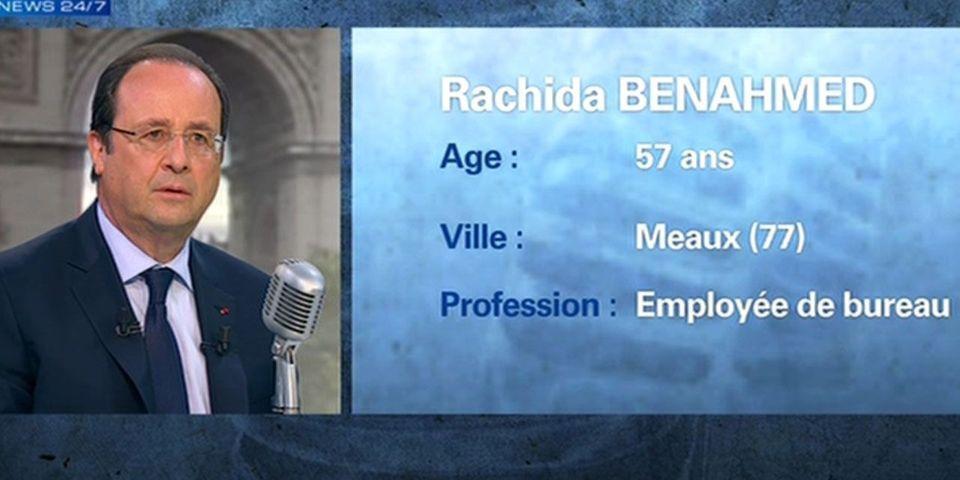 Une élue UMP de Meaux, ville de Jean-François Copé, s'invite parmi les auditeurs de BFMTV pour interroger François Hollande