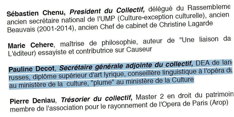 """Une """"plume"""" du ministère de la Culture nommée secrétaire générale adjointe du collectif culture du FN"""