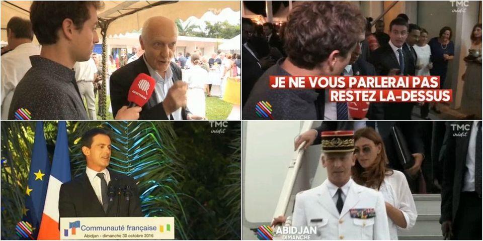"""Valls invite son """"amie"""" Laurence Katché (et le journaliste Nicolas Domenach) en Côte d'Ivoire aux frais de l'État"""
