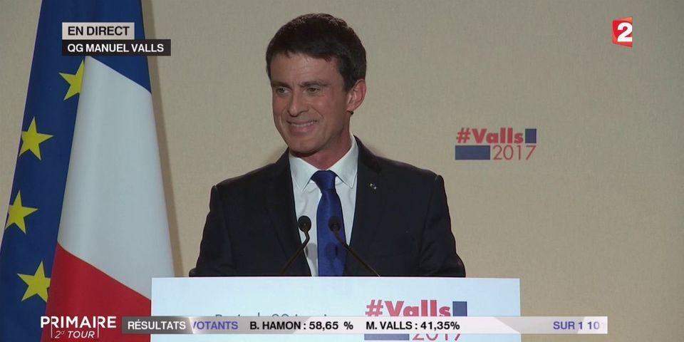 Valls salue la victoire de Hamon (mais rappelle qu'il a gagné dans les Outre-mer)