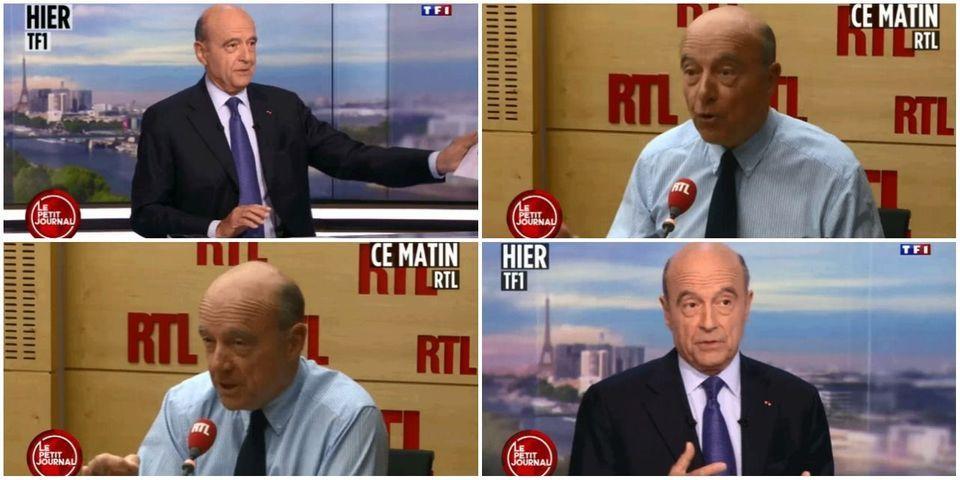 VIDÉO - Alain Juppé se répète mot pour mot dans deux interviews à 10 heures d'intervalle