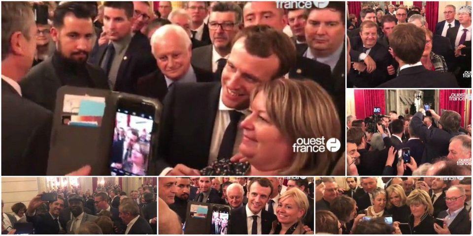 VIDÉO - Bain de foule et atelier selfies avec Macron : la surréaliste réception des maires à l'Élysée