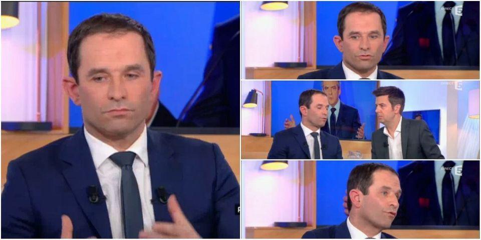 """VIDÉO - Benoît Hamon assure qu'à la place de François Fillon, il """"aurait abandonné"""""""