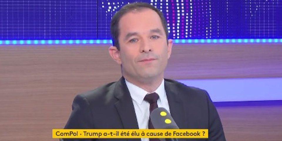 """VIDÉO - Benoît Hamon pointe la """"coresponsabilité"""" de Facebook dans l'élection de Trump"""