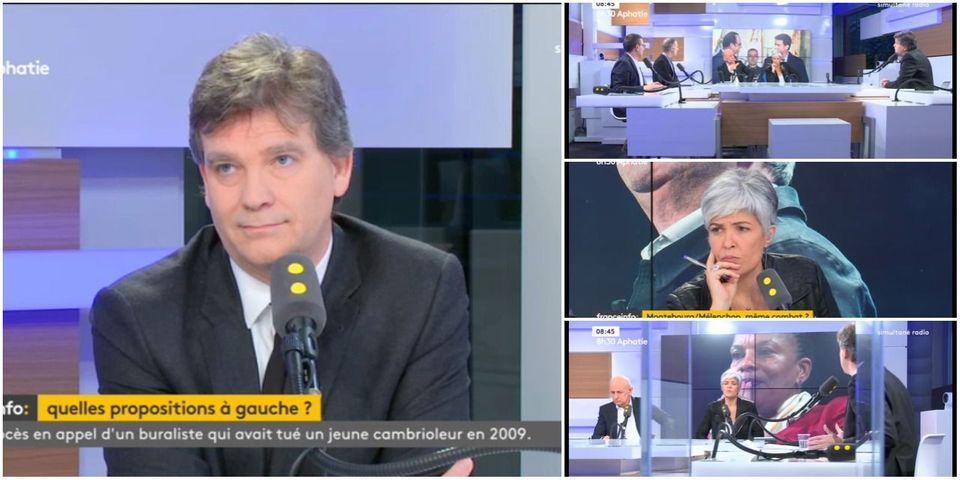 VIDÉO – Ce moment où Arnaud Montebourg *oublie* qu'il est aussi interrogé par une journaliste femme