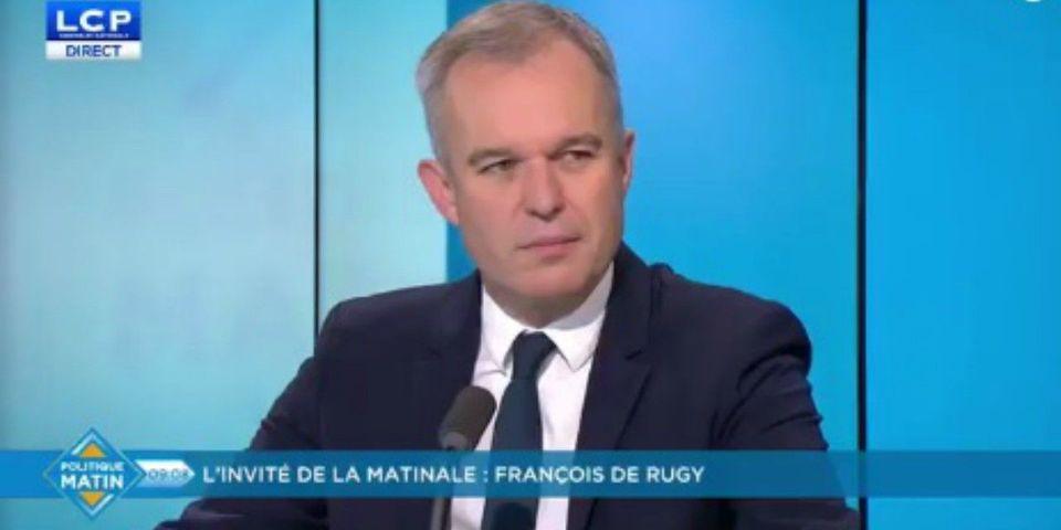 VIDÉO – Contrairement à Mélenchon et au FN, François de Rugy veut conserver le drapeau européen à l'Assemblée nationale