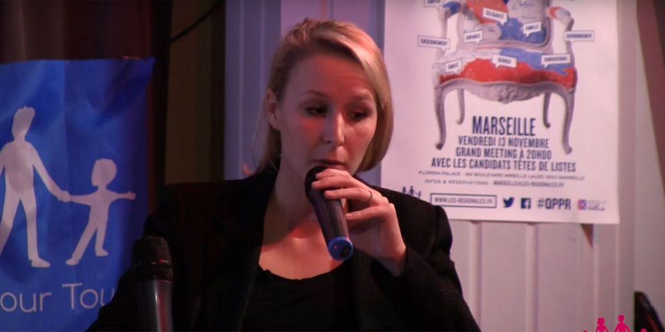 VIDÉO - Devant La Manif pour tous, Marion Maréchal-Le Pen s'engage à ne plus subventionner les plannings familiaux si elle gagne la région PACA