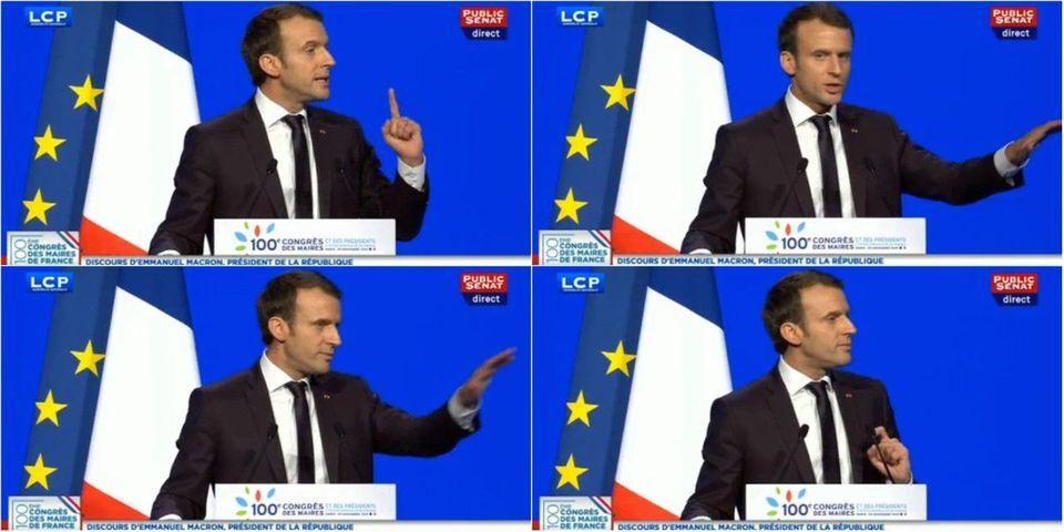 """VIDÉO – Emmanuel Macron """"demande"""" aux maires de ne pas le siffler"""