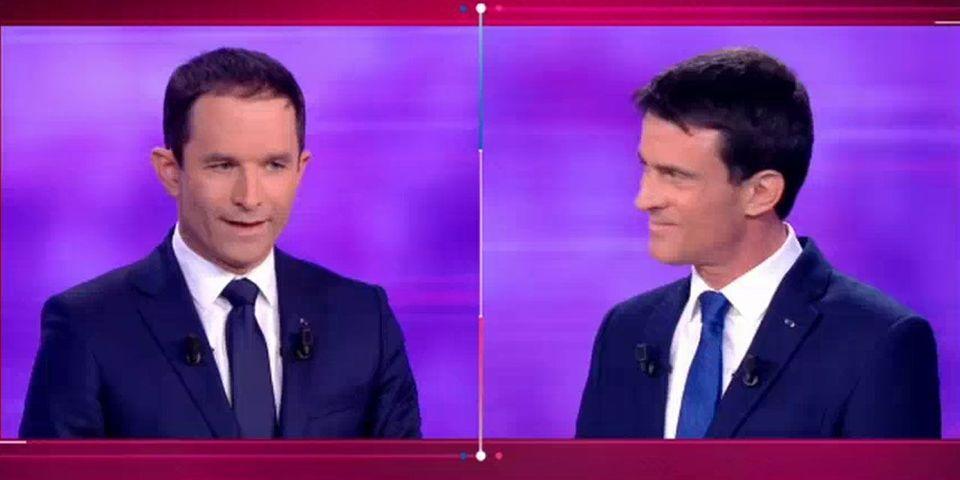 VIDÉO - En plein débat, Hamon et Valls montrent leurs lacunes en anglais
