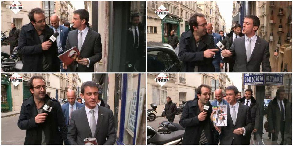 """[VIDÉO] Face aux rumeurs, Manuel Valls fait la promo d'un numéro de """"VSD"""" consacré à son couple"""