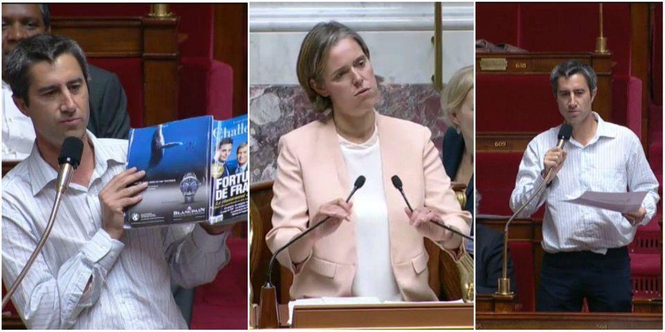 """VIDEO - François Ruffin (LFI) brandit les """"magazines marxistes"""" Challenges et le Financial Times en séance (et exaspère la présidente)"""