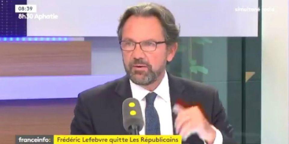 """VIDÉO – Frédéric Lefebvre raconte avoir été """"menacé par Sarkozy dans la loge de Carla Bruni"""" après avoir voté le pacte de responsabilité"""
