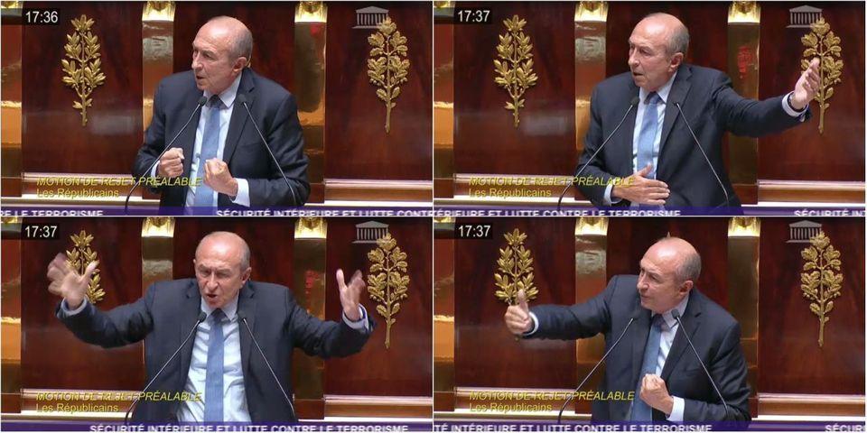 VIDÉO - La métaphore antique de Gérard Collomb pour défendre le projet de loi antiterroriste